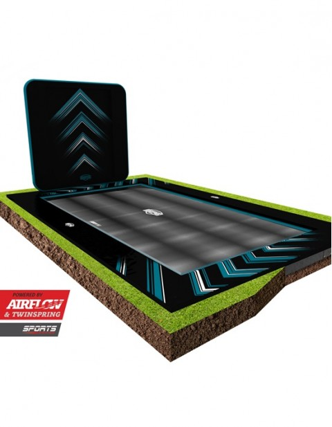 BERG Ultim Elite FlatGround 500 Black + AeroWall 2x2 Black