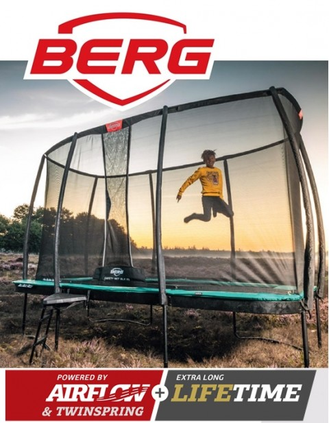BERG Ultim Champion Regular 410 + Safety Net DLX XL