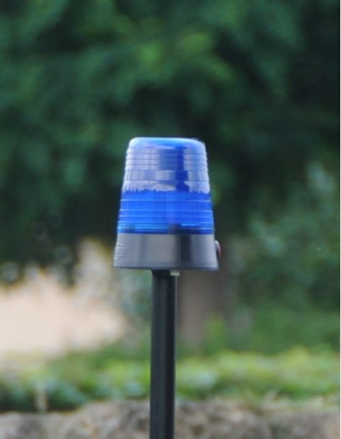 BERG Flashing light cover blue